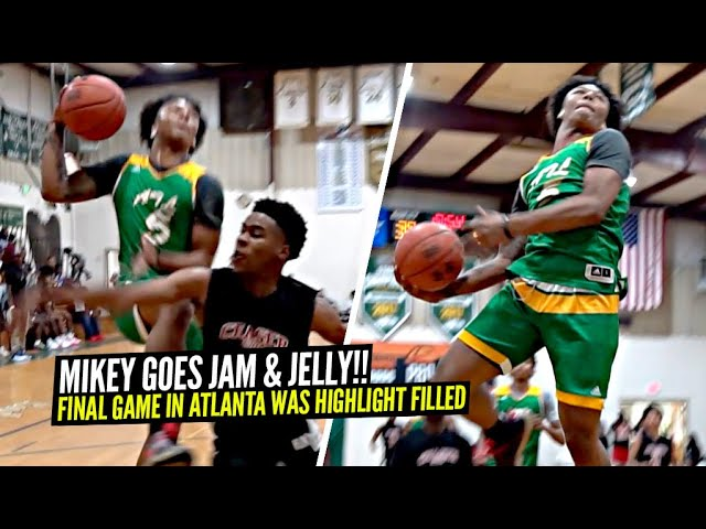 Mikey Williams Brings Out The JAM & JELLY In FINAL Game In Atlanta!! SELF OOP WINDMILL!