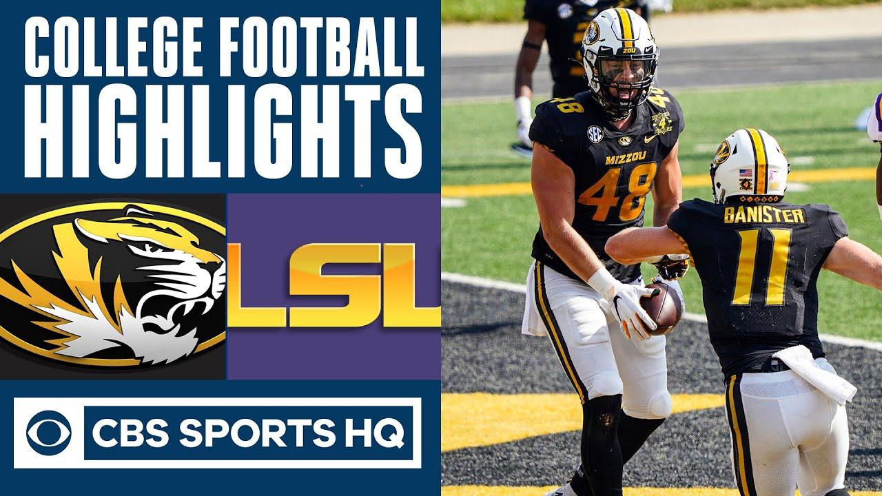 Missouri vs #14 LSU Highlights: #17 Tigers fall to 1-2 in 2020 season   CBS Sports HQ
