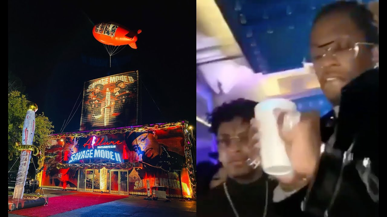 Young Thug Shows Up At 21 Savage Mode 2 Album Strip Club Party