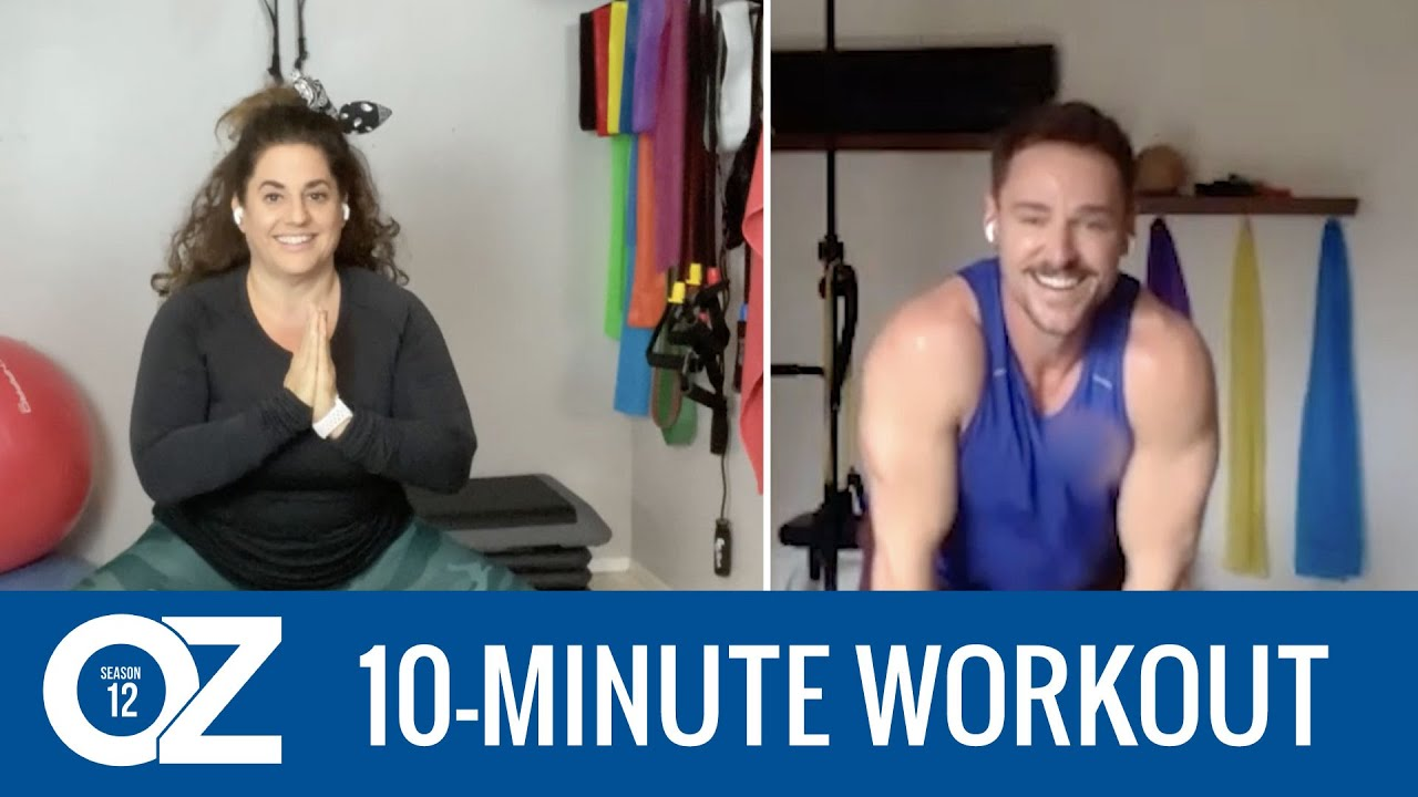 10-Minute At-Home Workout with Marissa Jaret Winokur and Trainer Keith Anthony