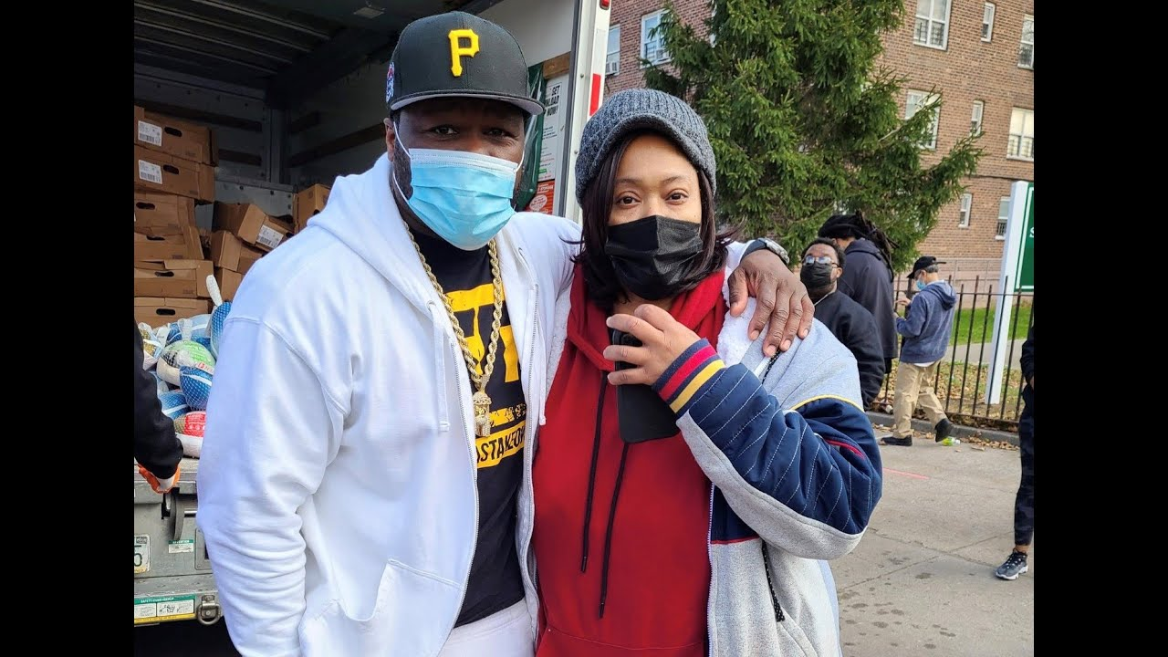 50 Cent Gives Out Turkeys In Southside, Jamaica Queens   G-Unity Foundation