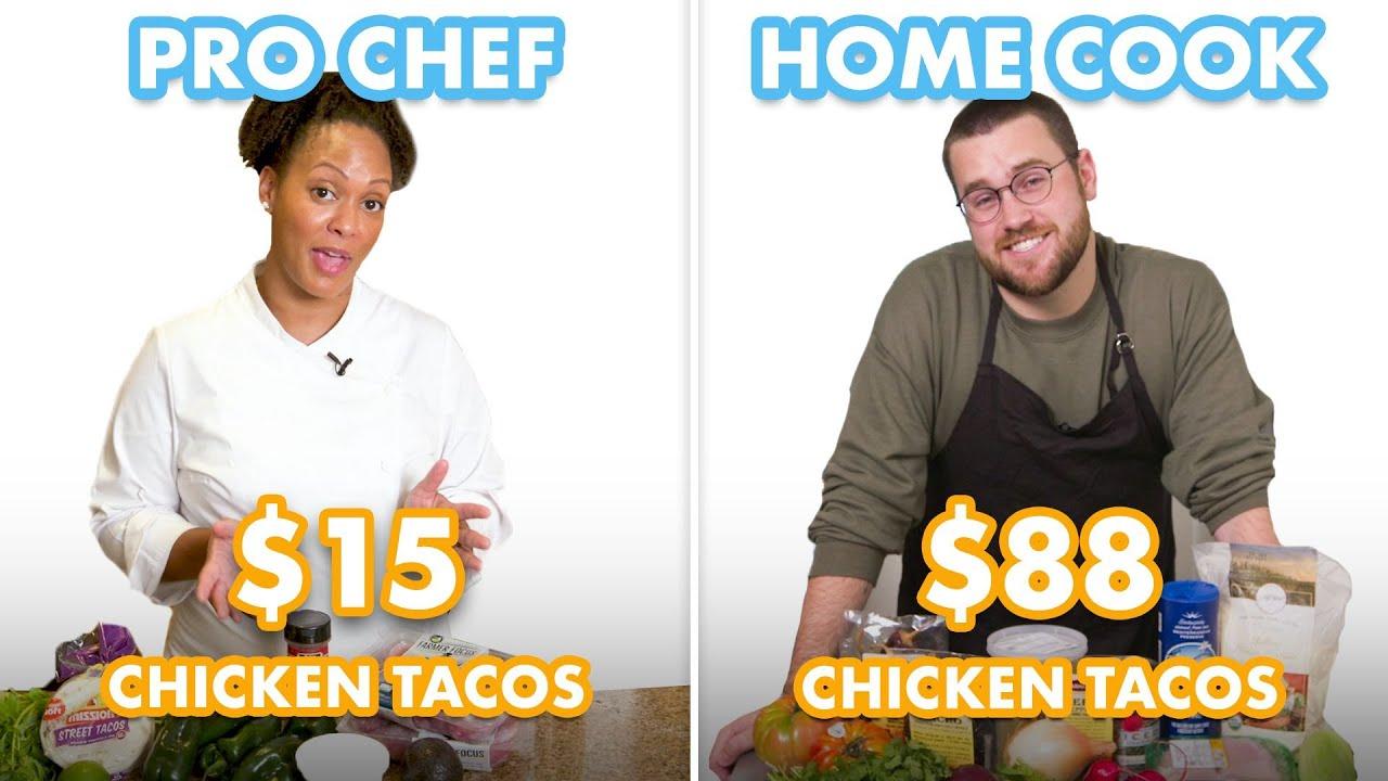 $88 vs $15 Tacos: Pro Chef & Home Cook Swap Ingredients   Epicurious