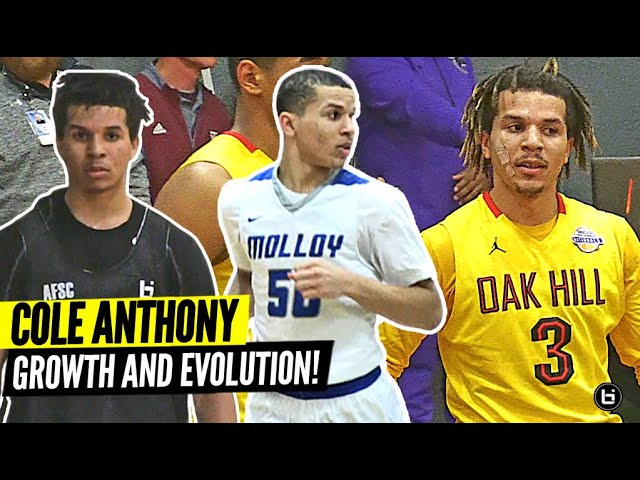 Cole Anthony's Incredible Growth & Evolution Through The Years! Athletic 9th Grader to a POINT GAWD!