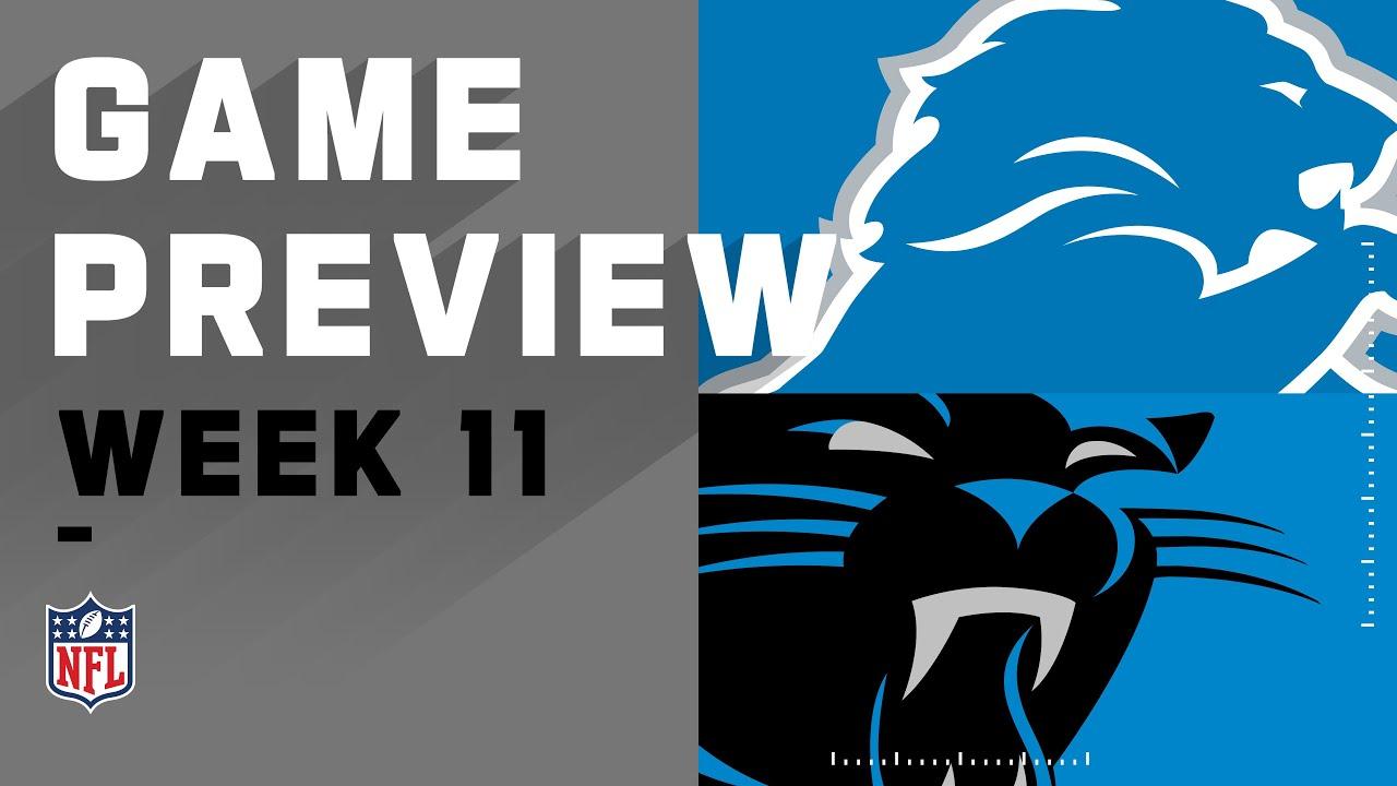 Detroit Lions vs. Carolina Panthers   NFL Week 11 Game Preview