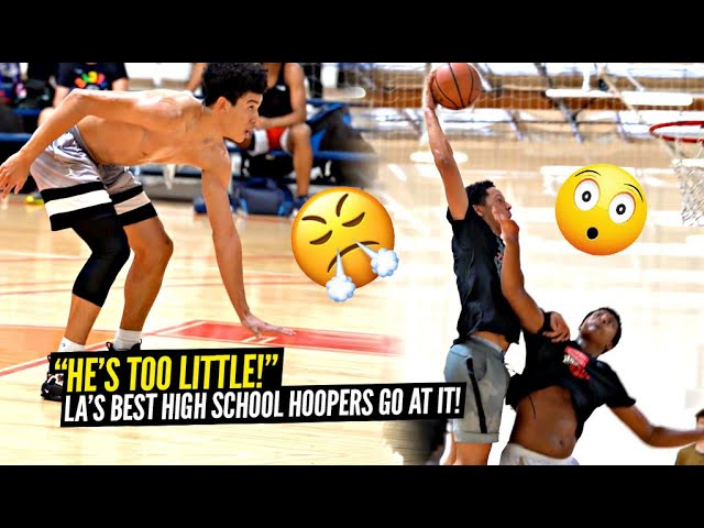 """""""He's TOO LITTLE"""" Top High School Hoopers In LA GO AT IT at Invite Only Ballislife x Mike C Runs!!"""