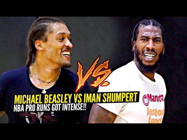 Michael Beasley & Iman Shumpert Go HEAD TO HEAD In NBA Private Runs & MANY BUCKETS WERE SERVED!