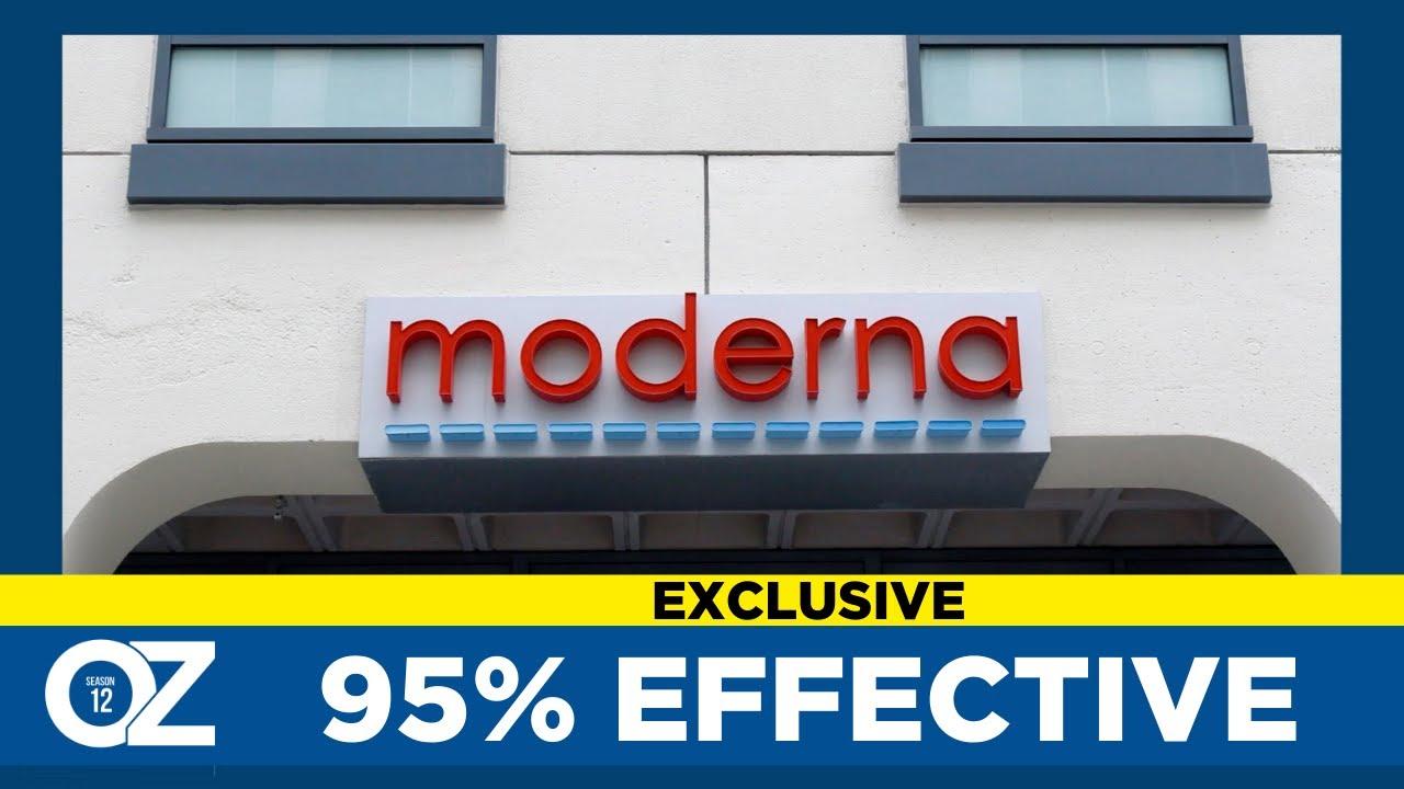 Moderna Vaccine Almost 95% Effective