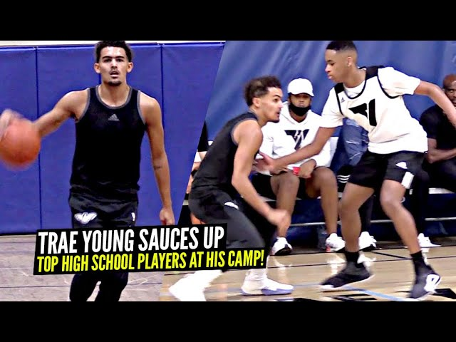 Trae Young Shows Off CRAZY Handles At His OWN CAMP in 5v5 Scrimmages vs Top High School Hoopers!