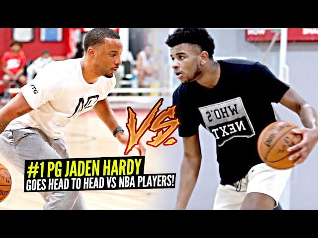 #1 PG Jaden Hardy Goes Head to Head vs NBA Players In Private Las Vegas PRO RUNS!