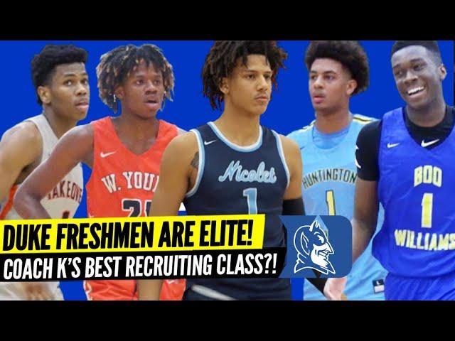 Duke Freshmen are ELITE! Coach K's Best Recruiting Class? Ballislife Player Preview! HS Highlights!
