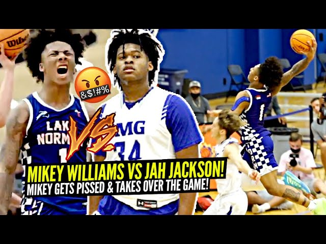 Mikey Williams vs Jahzare Jackson!! Mikey GETS PISSED & Takes OVER In The Second Half!!