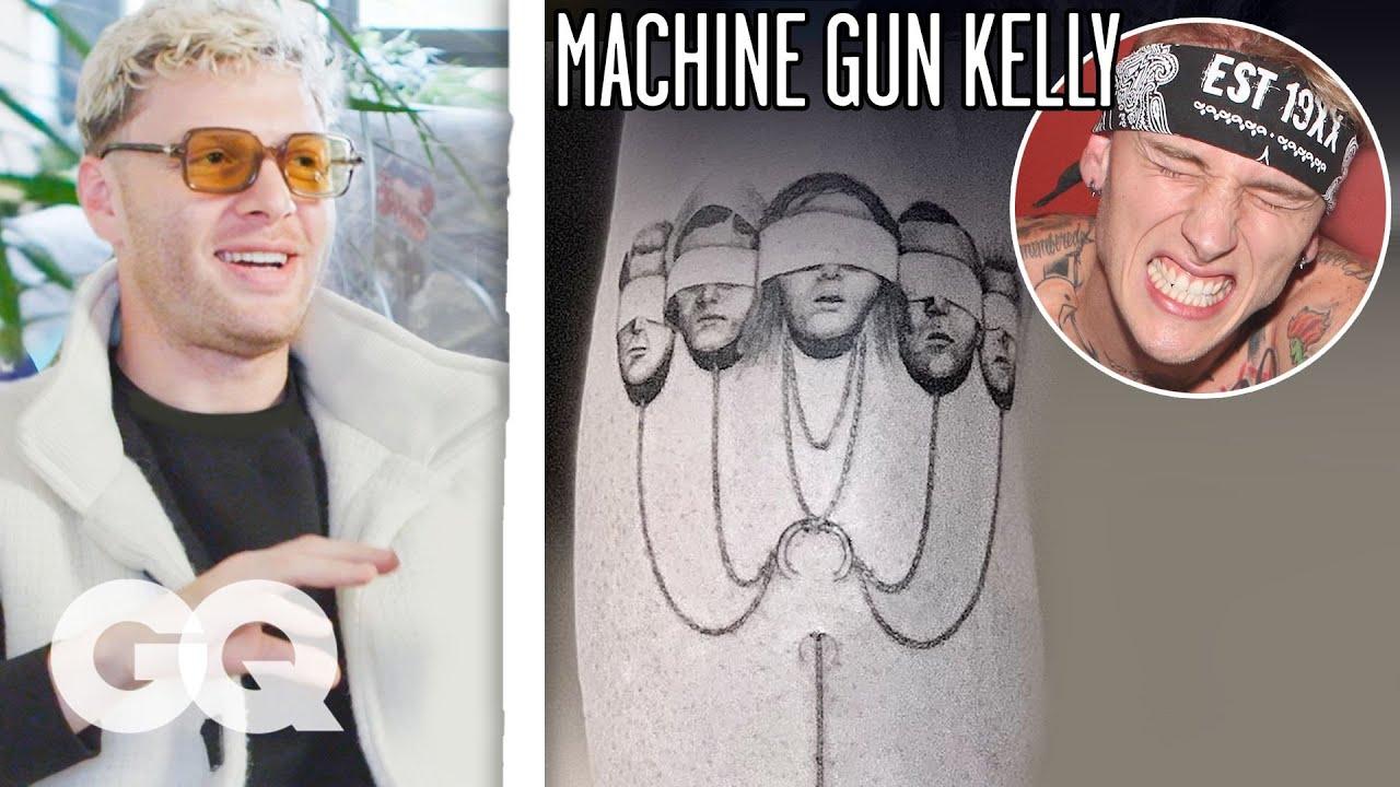 Pete Davidson & MGK's Tattoo Artist Breaks Down His Top Celeb Tattoos   Fine Points   GQ