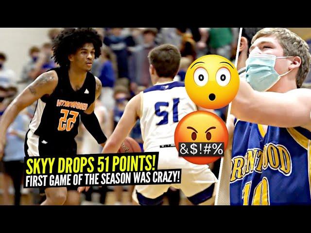 Skyy Clark Drops 51 POINTS vs TRASH TALKING CROWD In 1st GAME Of The Season!!!