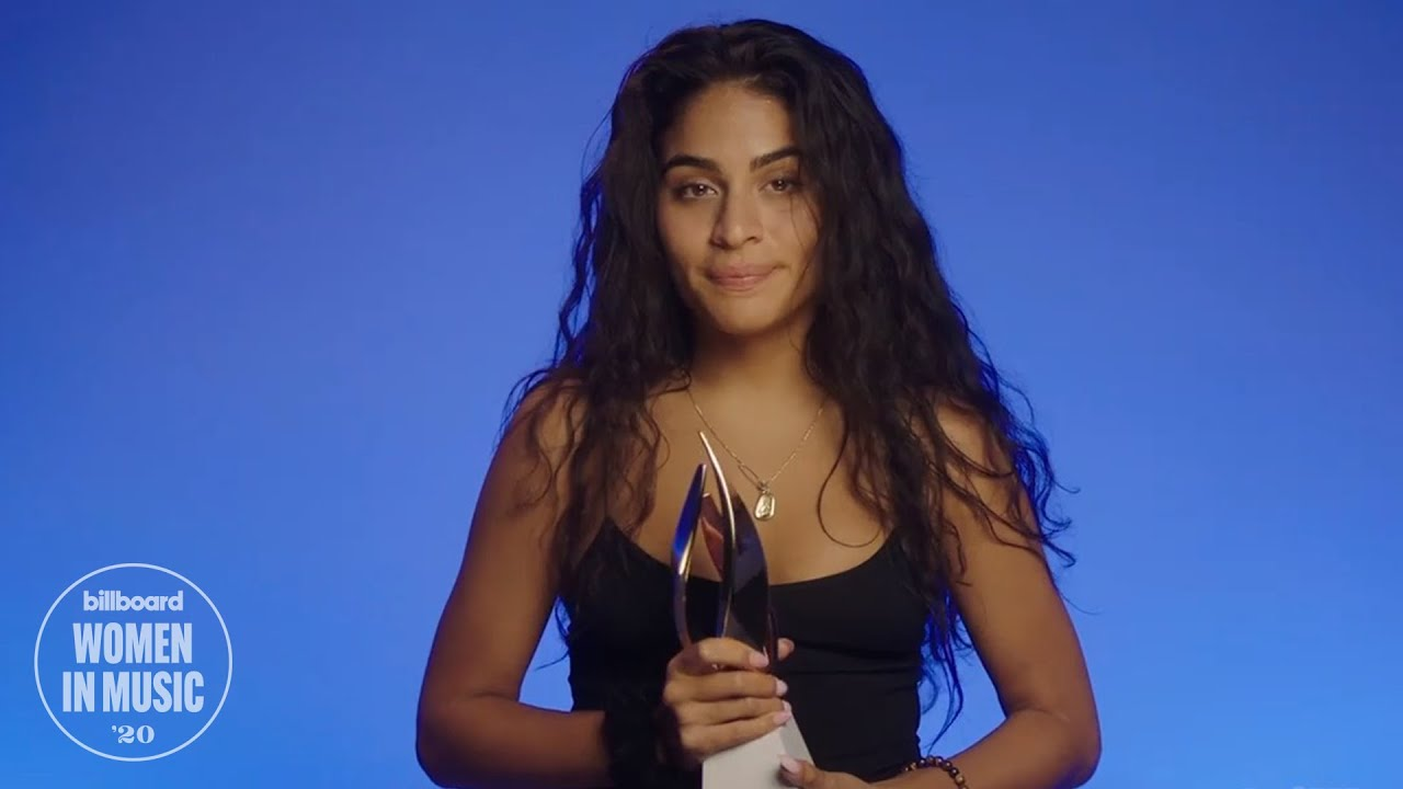 Jessie Reyez Accepts the American Express Impact Award at Billboard's Women In Music