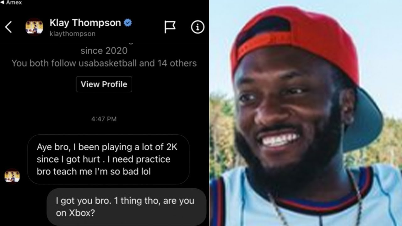 Klay Thompson Slides In Dm To Ask Pro 2K Player KennyGotWork To Help Him Get Better At NBA 2K