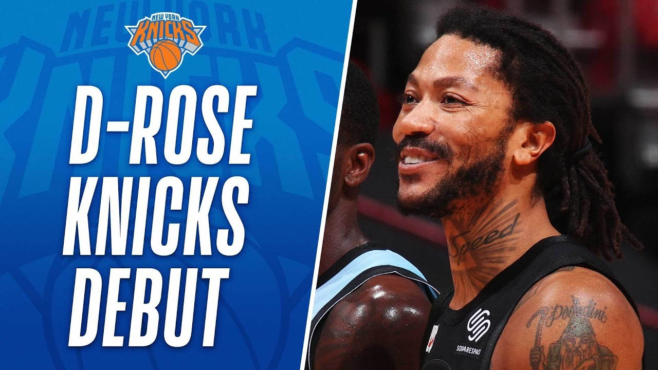 🌹 Derrick Rose Returns To The Knicks With 14 PTS & 3 AST 🌹