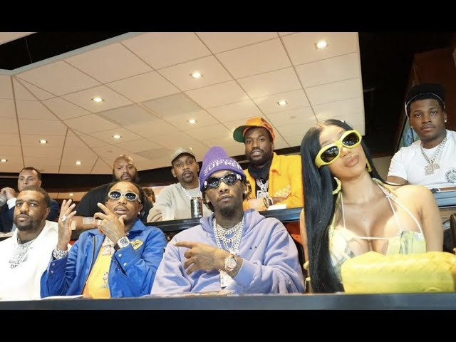 Migos, Meek Mill, Cardi B & Lil Baby Turn Out Celebrity Skybox At Super Bowl