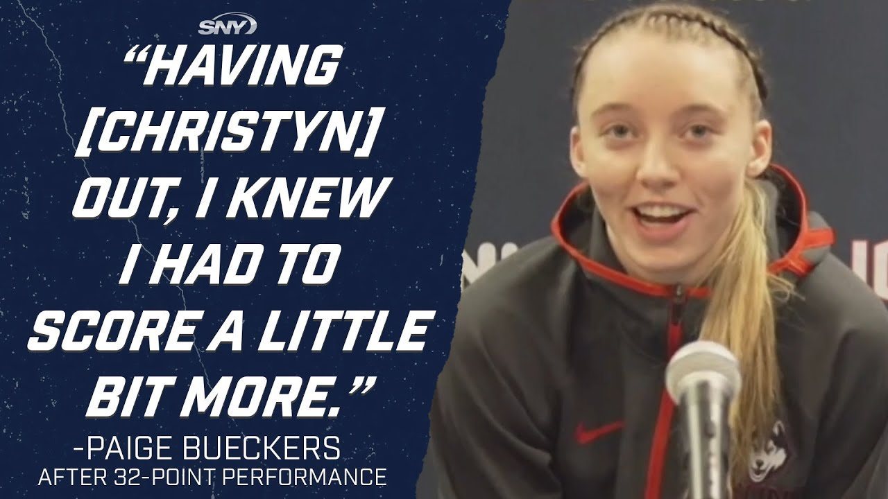 Paige Bueckers was 'looking for [her] shot more' in 32-point performance | UConn Huskies | SNY