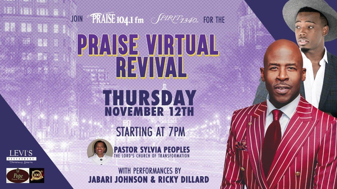 Radio One Praise Revival Featuring Pastor Sylvia Peoples, Ricky Dillard and Jabari Johnson