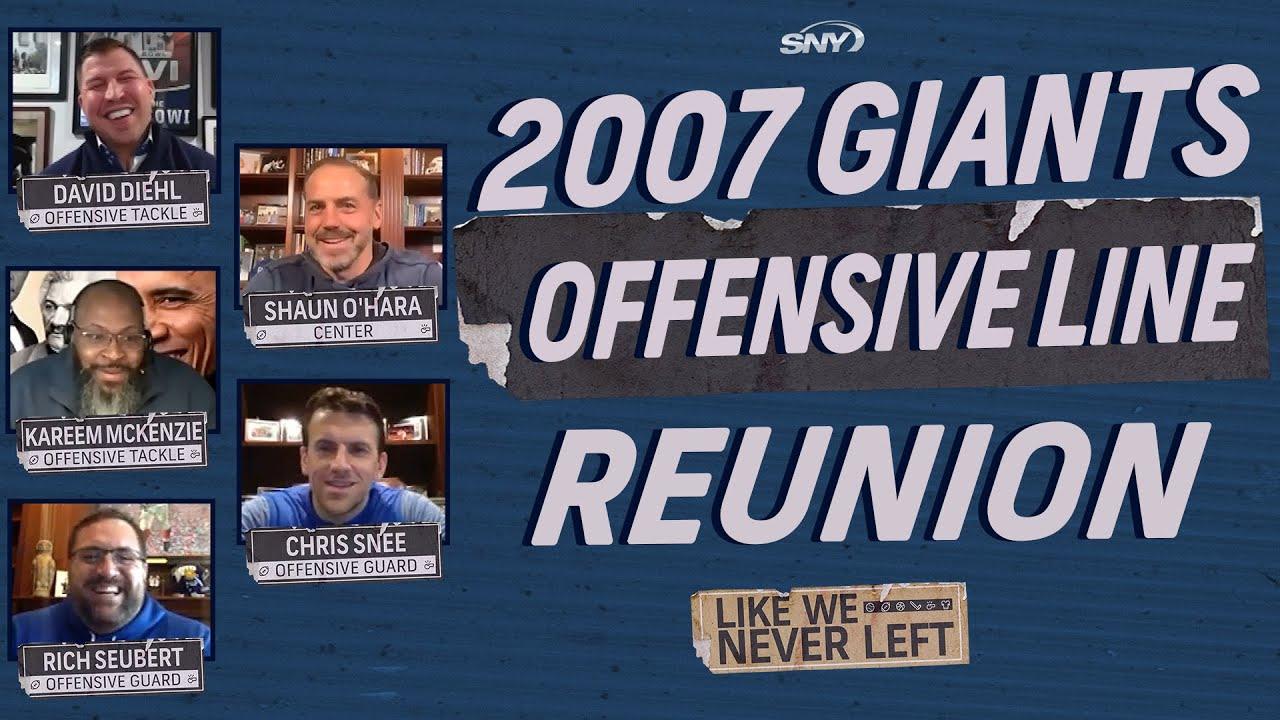 The 2007 New York Giants O-Line reunites to talk about Super Bowl XLII | Like We Never Left | SNY