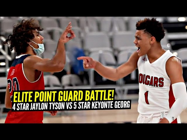 The Mask Gives Him POWERS!? 5 Star Keyonte George vs 4 Star Jaylon Tyson!! ELITE Point Guard Battle!