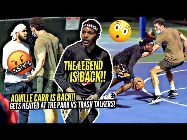 5'6 Aquille Carr HEATED 5v5 vs TRASH TALKERS In Miami!! The Mixtape Legend IS BACK!!