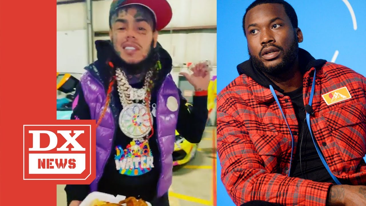 6ix9ine Challenges Meek Mill To Actual Fistfight While Claiming To Have More Money Than Him