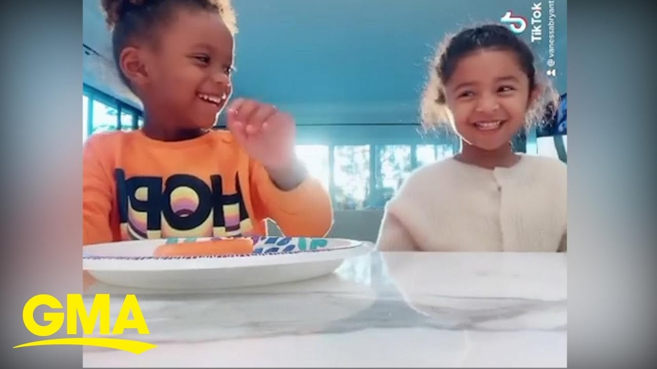 Ciara and Vanessa Bryant's daughters play the toddler challenge | GMA