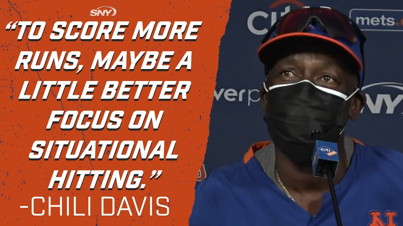 Hitting coach Chili Davis back in person with Mets, puts emphasis on situational hitting | SNY