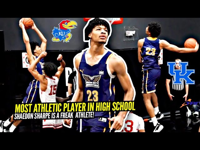 Most ATHLETIC Player In The Nation!? This Is Why Shaedon Sharpe Has D1 Offers From Kentucky & Kansas