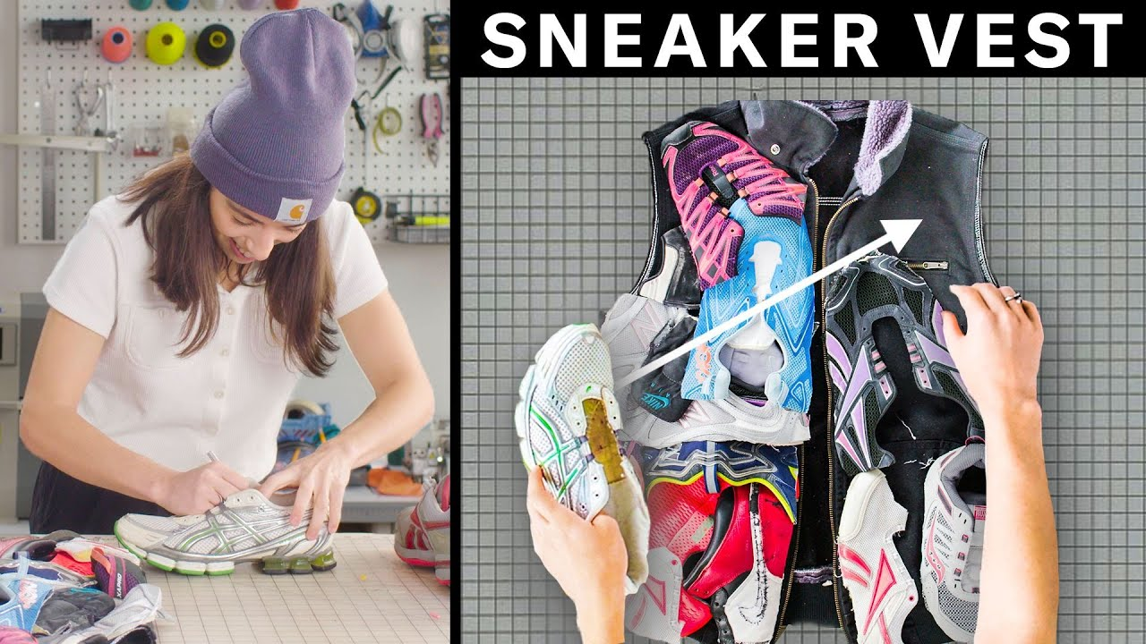 Transforming Old Sneakers into a Custom Vest (4 Step DIY) | GQ