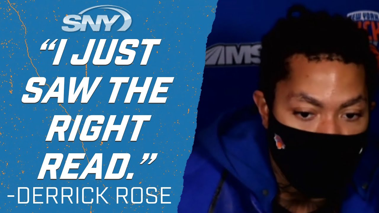 Derrick Rose explains decision to pass at end of regulation, leading Knicks to OT win | Knicks | SNY