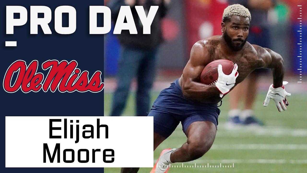 Elijah Moore FULL Pro Day Highlights