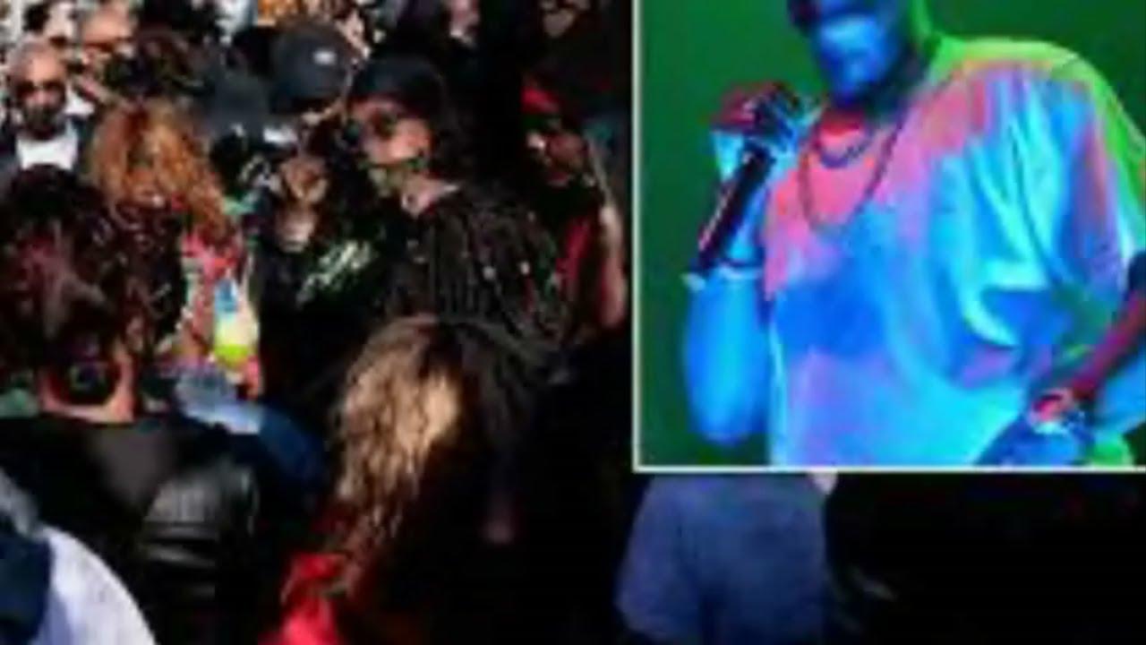 Hundreds of DMX fans hold vigil outside hospital as rapper fights for his life