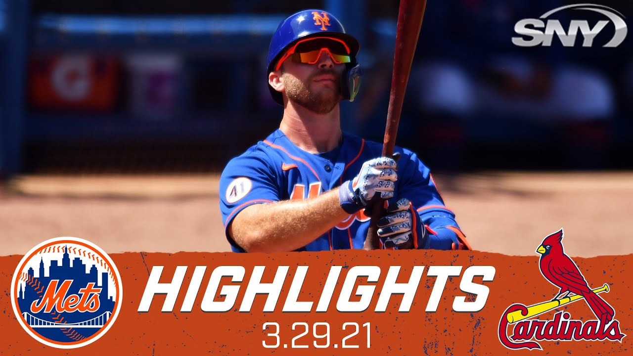 Pete Alonso drives in 2 during the Mets final spring training game of 2021 | Mets vs Cardinals | SNY