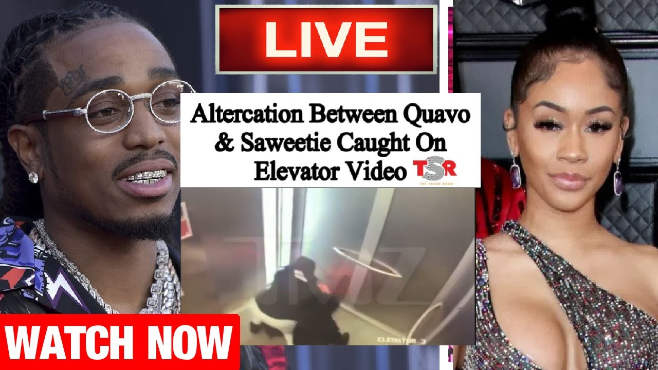 Quavo And Saweetie Elevator footage Released (FULL VIDEO)