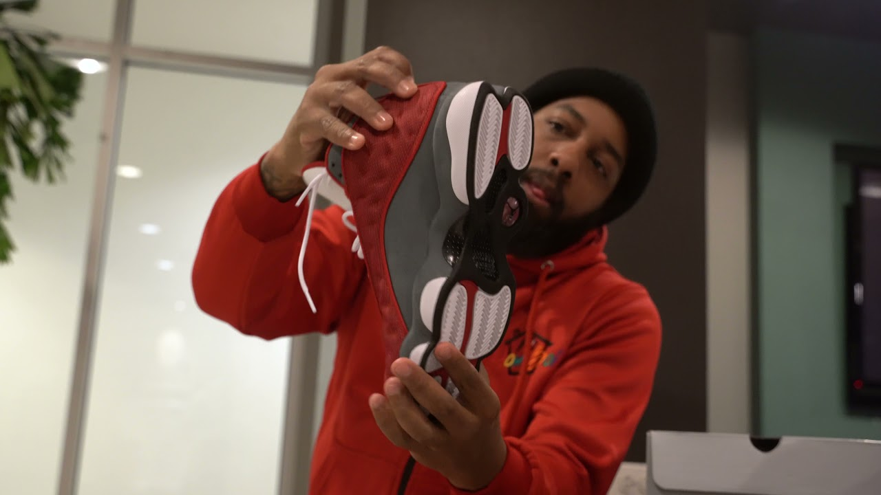 """The Air Jordan 13 Retro """"Gym Red"""" (aka """"Red Flint"""") is almost here .."""