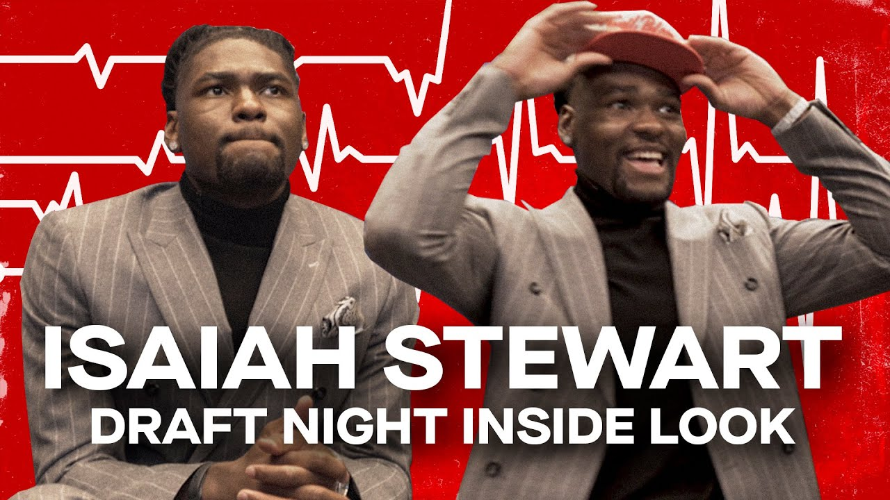 #16 NBA Pick Isaiah Stewart Reacts to Being Drafted by Detroit Pistons   FROM THE HEART