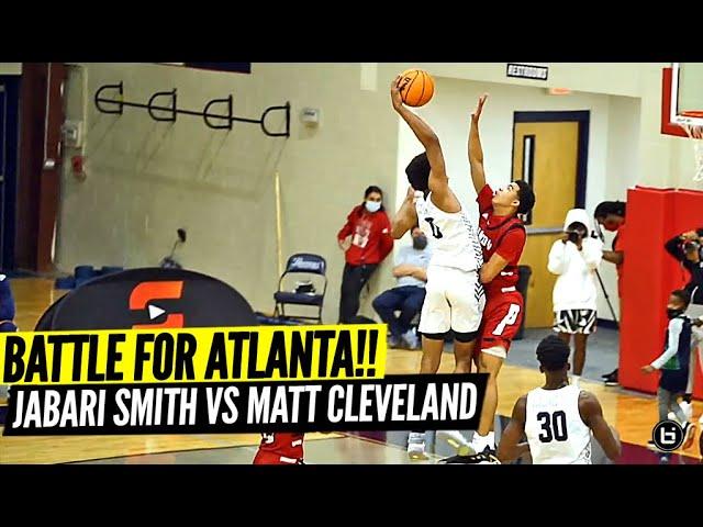 5 Star Jabari Smith vs 5 Star Matt Cleveland GO HEAD to HEAD in Battle for ATLANTA!