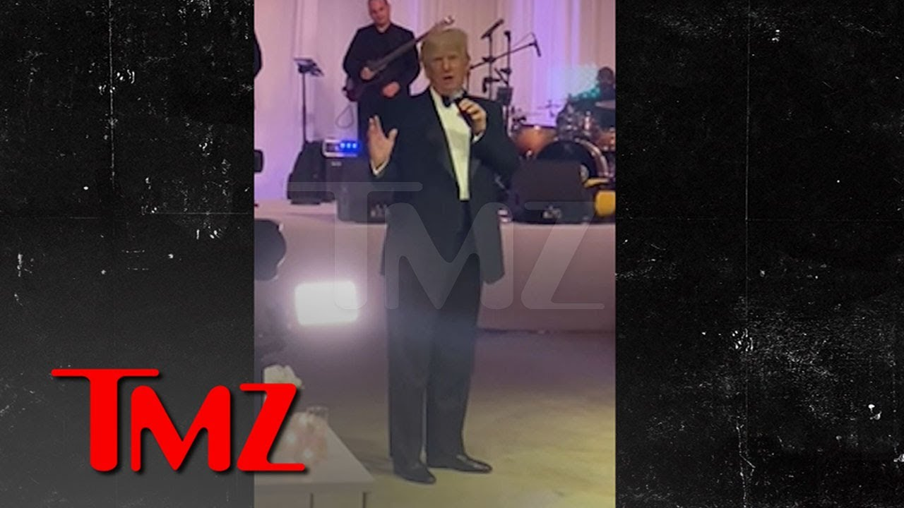 Donald Trump Rails on Biden During Wedding Speech at Mar-a-Lago | TMZ