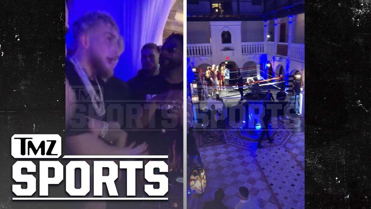 Jake Paul Hosts Versace Mansion Rager W/ Boxing Ring To Celebrate Ben Askren K.O.   TMZ Sports