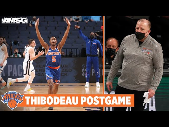 Thibs Compliments Growth of Young Knicks   New York Knicks