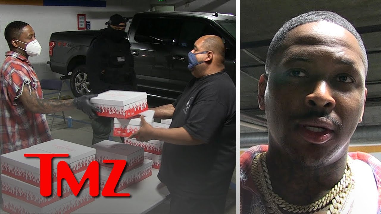 YG Giving Away His $200 Sneakers to Homeless on Skid Row | TMZ