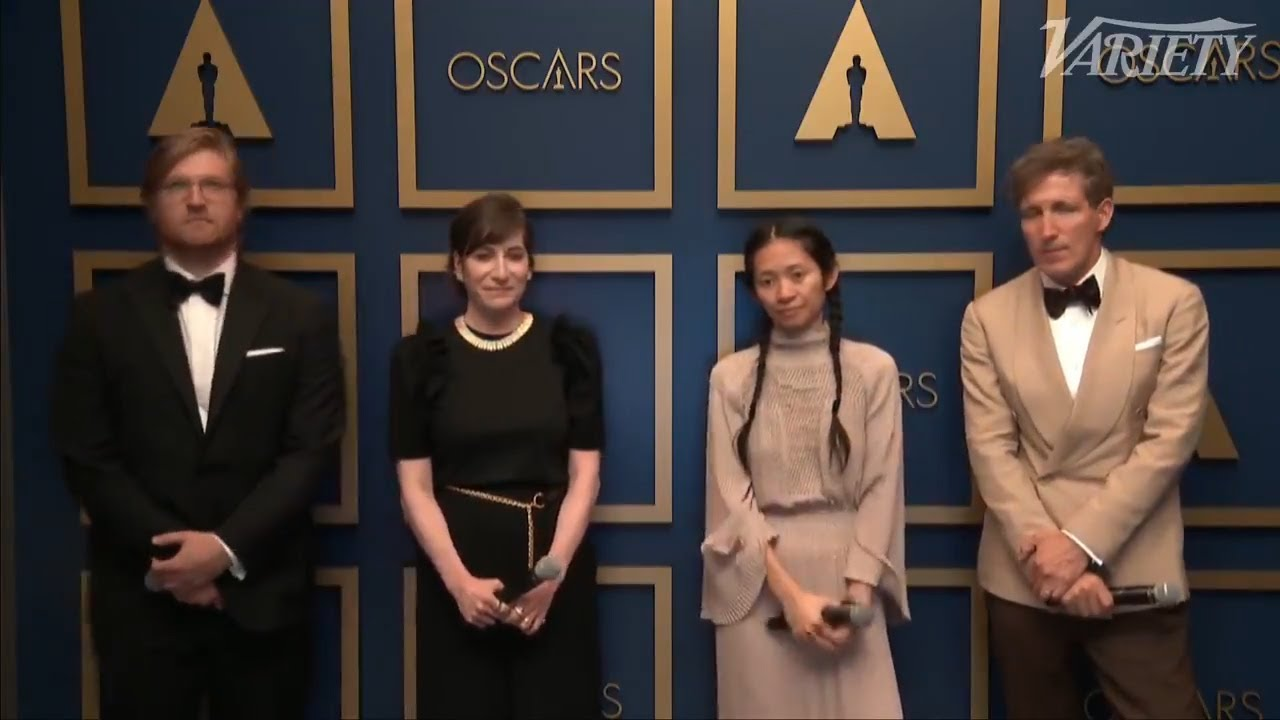 Chloé Zhao and the 'Nomadland' Team Celebrate Best Picture Win