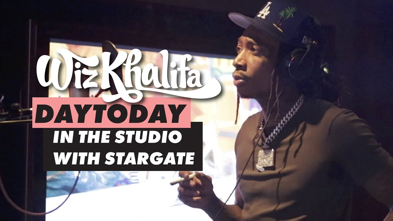Wiz Khalifa - DayToday - In the studio w/ Stargate (They made Black & Yellow) *hidden freestyle
