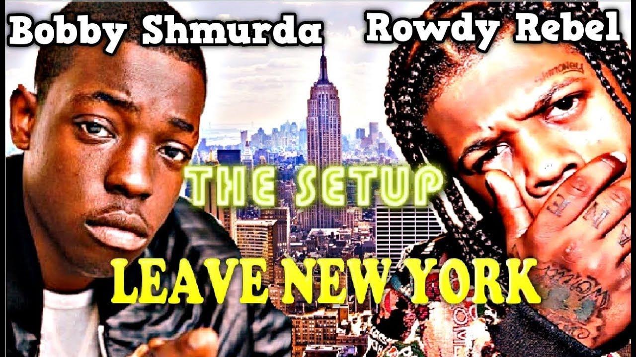 BOBBY SHMURDA & ROWDY REBEL LEAVE NEW YORK NOW! GS9 WOOS CHOOS BLIXKY'S GANG (NEW YORK DEATH)