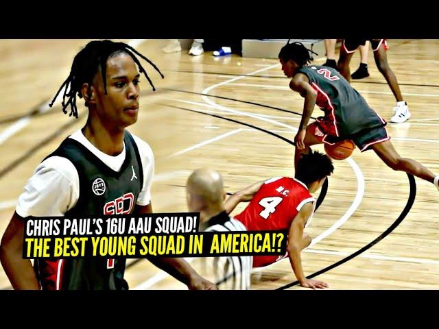 Chris Paul's 16u AAU Squad Is CRAZY!! Rob Dillingham, Aden Holloway & Jaylen Curry Go CRAZY!