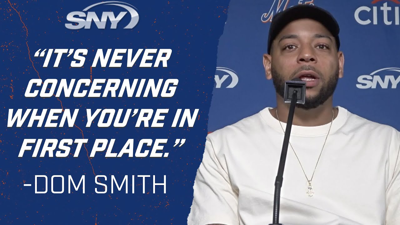 Dom Smith downplays Mets' recent hitting woes post splitting doubleheader with Phillies   Mets   SNY