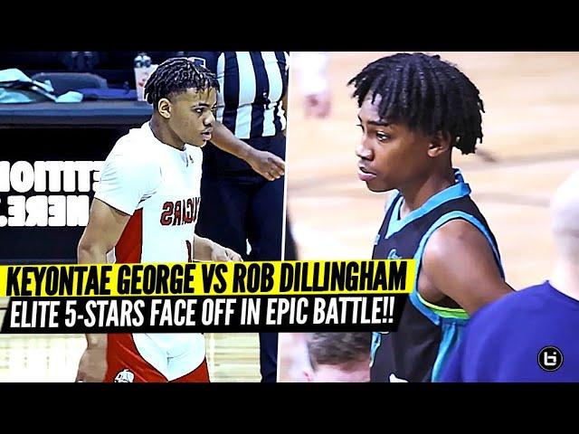 Keyonte George vs Rob Dillingham!! ELITE 5 Star Guards FACE OFF!!