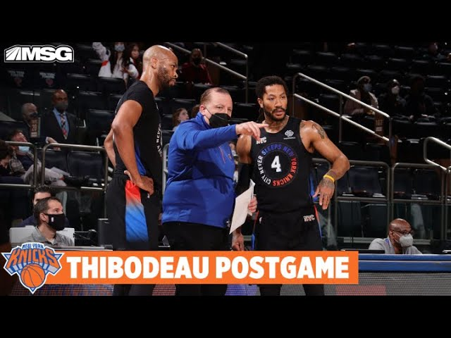 Thibs Proud of Derrick Rose's Production Off Bench | New York Knicks